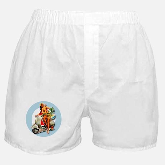 Aloha Scooter Girl Mod Target Boxer Shorts