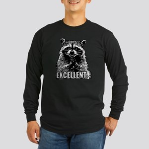 Excellent Raccoon Long Sleeve Dark T-Shirt