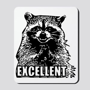 Excellent Raccoon Mousepad