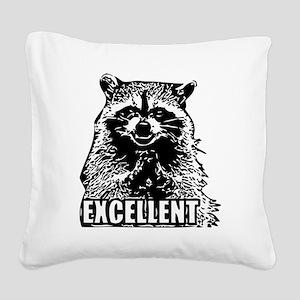 Excellent Raccoon Square Canvas Pillow