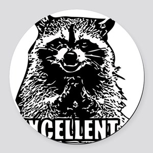 Excellent Raccoon Round Car Magnet