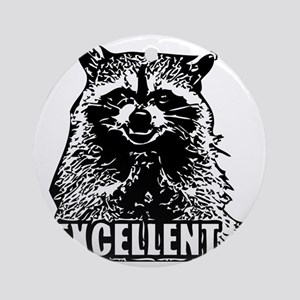 Excellent Raccoon Round Ornament