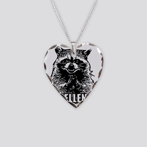 Excellent Raccoon Necklace Heart Charm