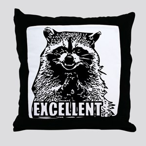 Excellent Raccoon Throw Pillow
