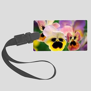 Pansies (Viola wittrockiana) Large Luggage Tag