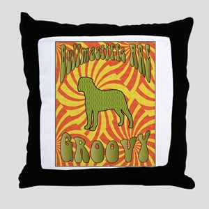 Groovy Bullmastiffs Throw Pillow