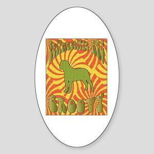 Groovy Bullmastiffs Oval Sticker