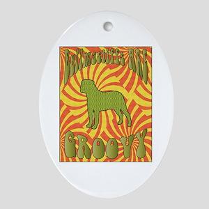 Groovy Bullmastiffs Oval Ornament