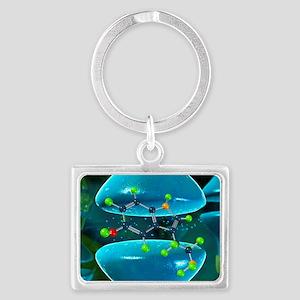 Serotonin neurotransmitter mole Landscape Keychain