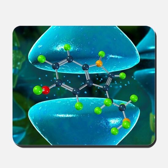 Serotonin neurotransmitter molecule Mousepad