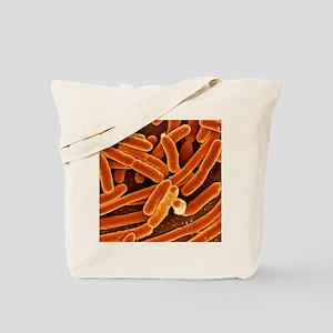 Escherichia coli bacteria, SEM Tote Bag