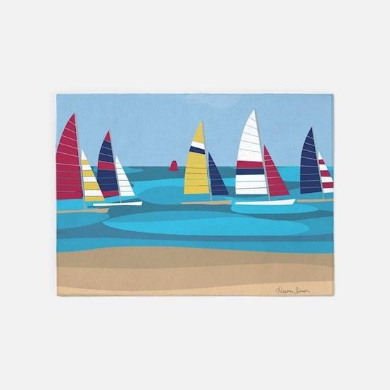 Sailing 5'x7'Area Rug