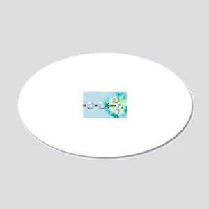 Nuclear fission reaction, ar 20x12 Oval Wall Decal