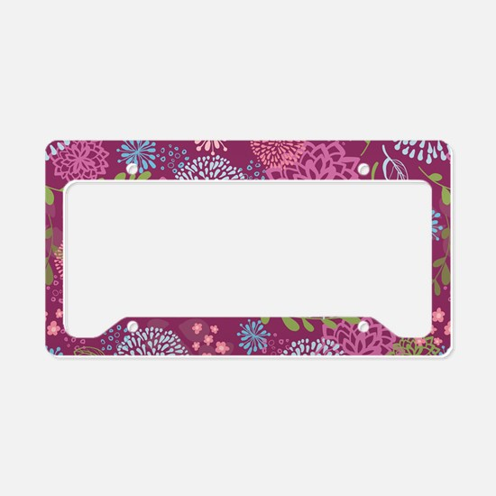 LayerFlowers_Magenta_Large License Plate Holder