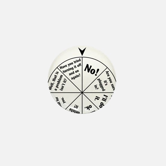 IT Professional Wheel of Answers Mini Button