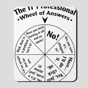 IT Professional Wheel of Answers Mousepad