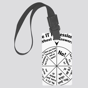 IT Professional Wheel of Answers Large Luggage Tag