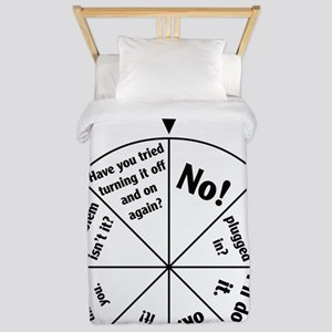 IT Professional Wheel of Answers Twin Duvet