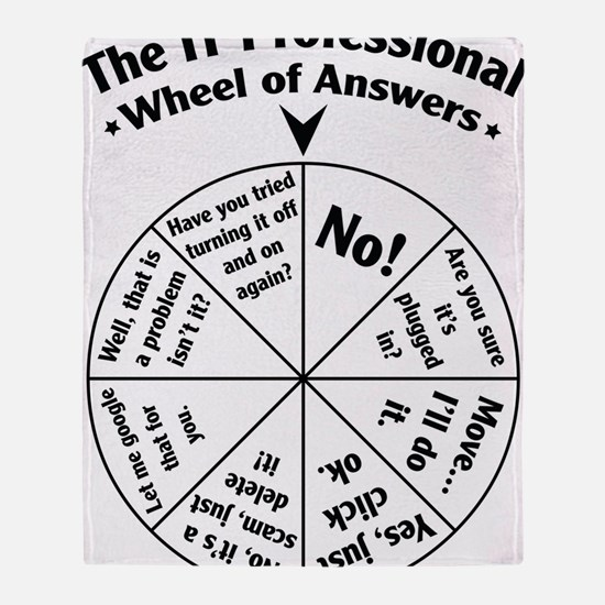 IT Professional Wheel of Answers Throw Blanket