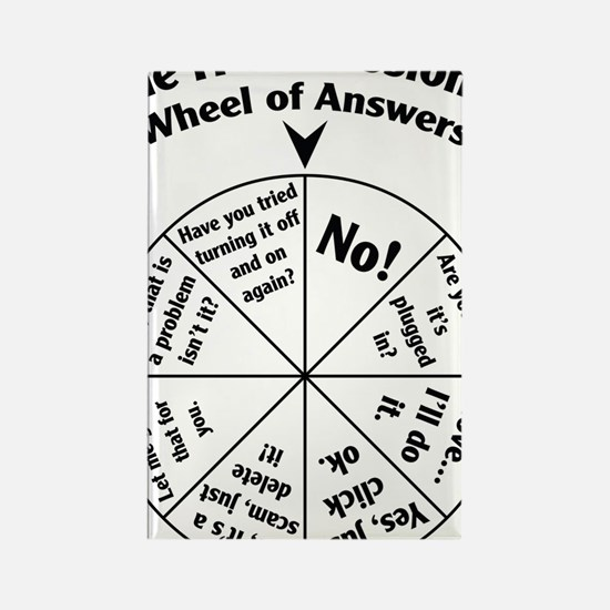 IT Professional Wheel of Answers Rectangle Magnet