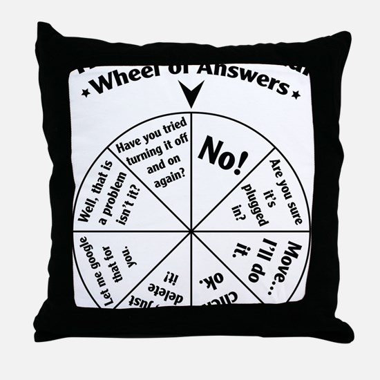 IT Professional Wheel of Answers Throw Pillow