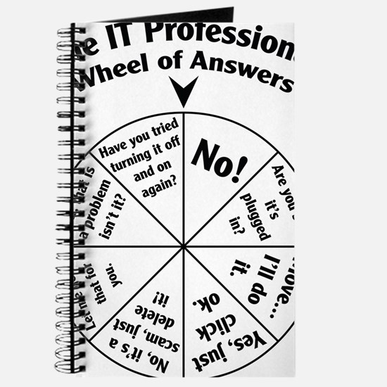 IT Professional Wheel of Answers Journal