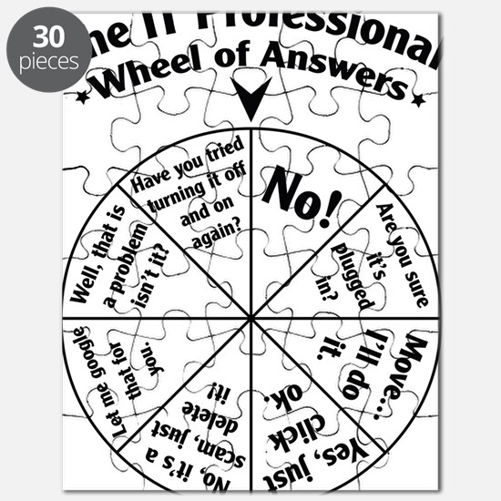 IT Professional Wheel of Answers Puzzle