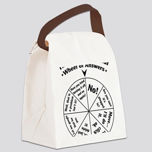 IT Professional Wheel of Answers Canvas Lunch Bag