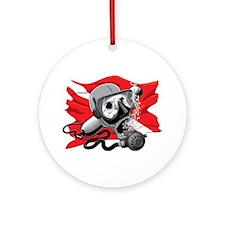 Diver Down Skull Ornament (Round)