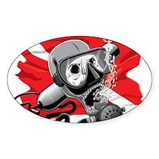 Diver Down Skull Sticker