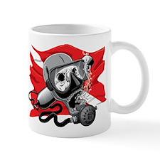 Diver Down Skull Mugs