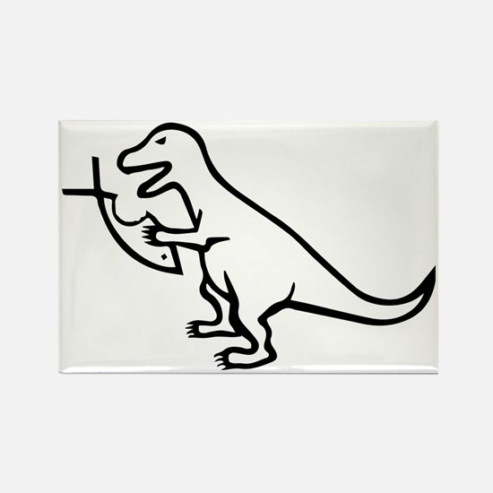 T-Rex and Religion Rectangle Magnet