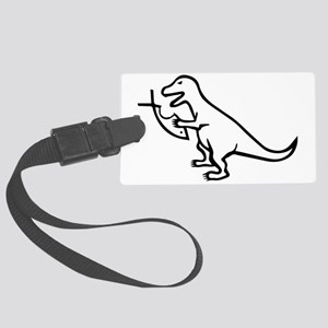 T-Rex and Religion Large Luggage Tag