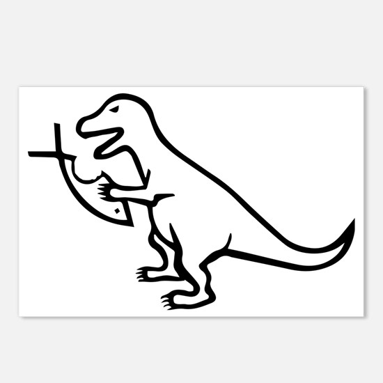 T-Rex and Religion Postcards (Package of 8)