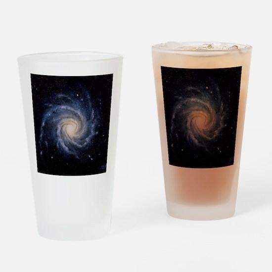 Spiral galaxy M74 Drinking Glass