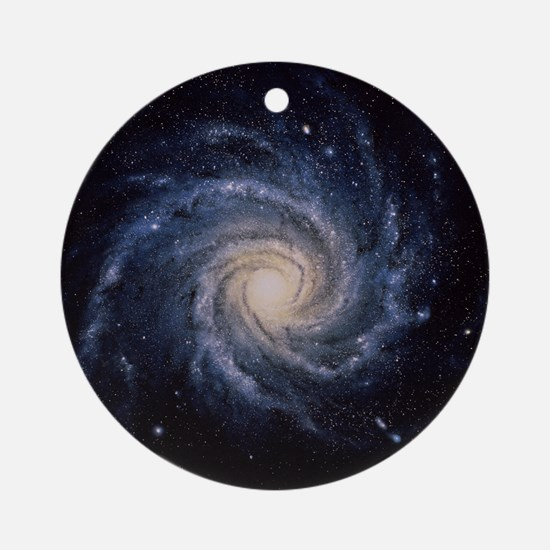 Spiral galaxy M74 Round Ornament