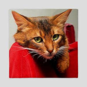 Lovesick Somali cat Queen Duvet