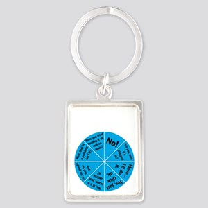 IT Wheel of Answers. Portrait Keychain