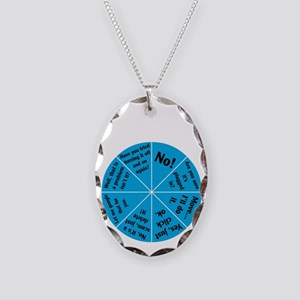 IT Wheel of Answers. Necklace Oval Charm