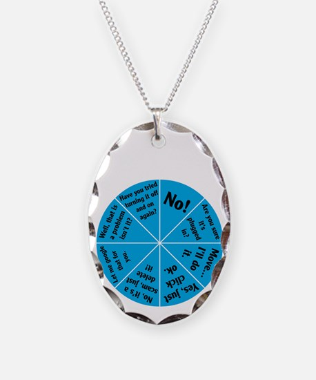 IT Wheel of Answers. Necklace