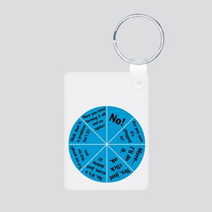 IT Wheel of Answers. Aluminum Photo Keychain