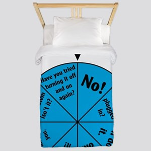IT Wheel of Answers Twin Duvet