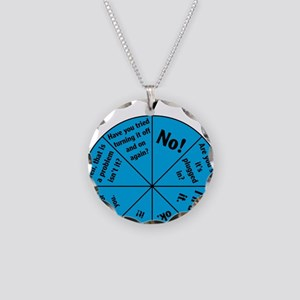 IT Wheel of Answers Necklace Circle Charm