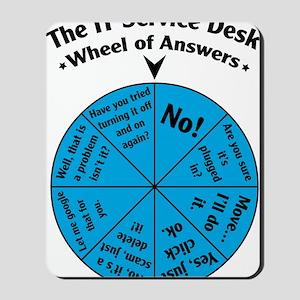 IT Wheel of Answers Mousepad