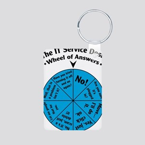 IT Wheel of Answers Aluminum Photo Keychain