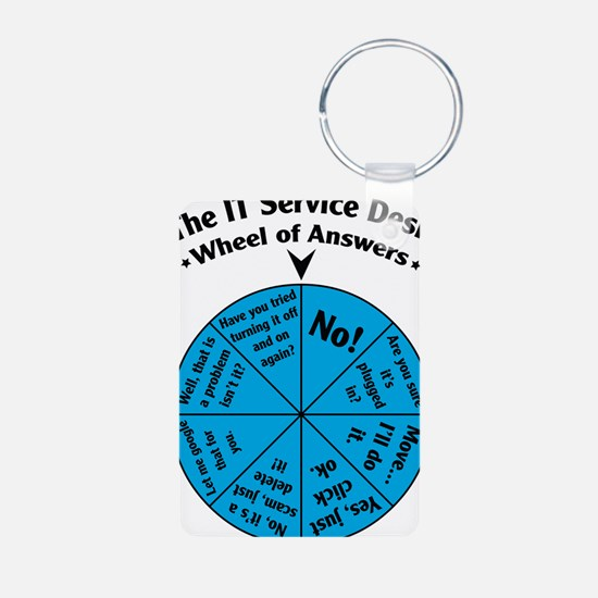 IT Wheel of Answers Keychains