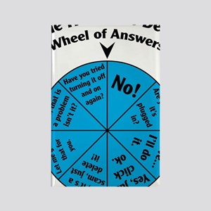 IT Wheel of Answers Rectangle Magnet