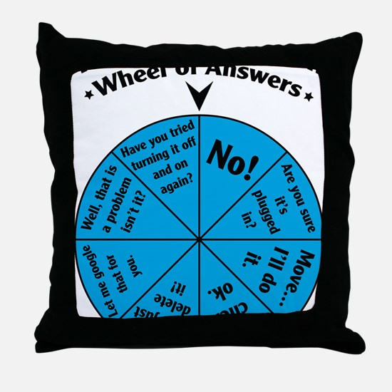 IT Wheel of Answers Throw Pillow