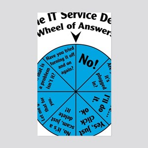 IT Wheel of Answers Sticker (Rectangle)