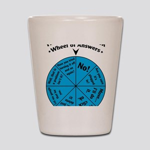 IT Wheel of Answers Shot Glass